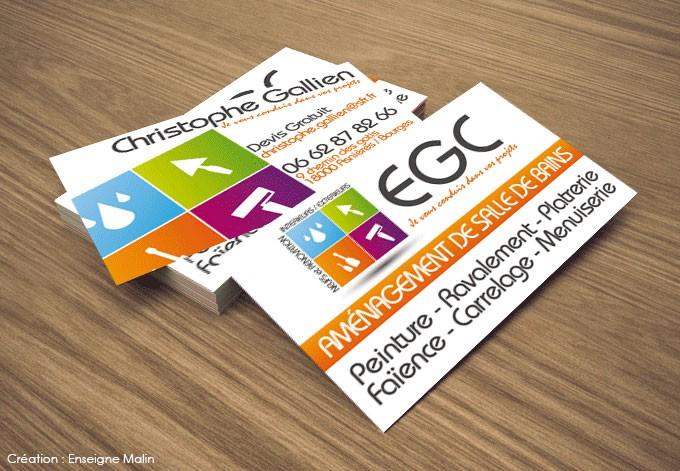 En Voir EGCCreation Graphique Du Logo Et Realisation Des Cartes De Visite EGC